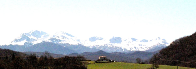 Mindful walking in the Pyrenees mountains